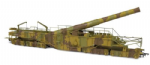 Oxford Rail OR76BOOM03 Rail Gun WWI Boche Buster